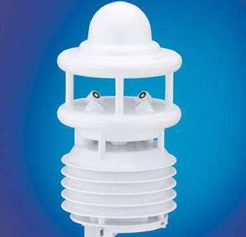 Kombinationssensor für Gebäudeleittechnik Lufttempeartur, Luftfeuchte, Luftdruck und Windgeschwindig