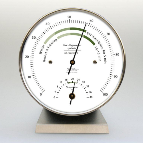 Wohnklima-Hygrometer mit Thermometer