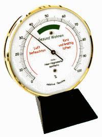 Wohnklima Hygrometer im Messinggehäuse