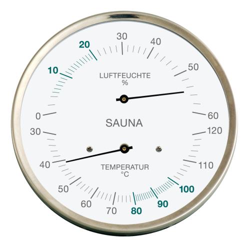 Sauna-Hygrometer mit synthetischer Faser und Bimetall-Thermometer