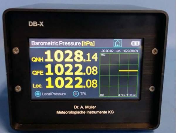 Digital Barometer zur Anwendung auf Flugplätzen