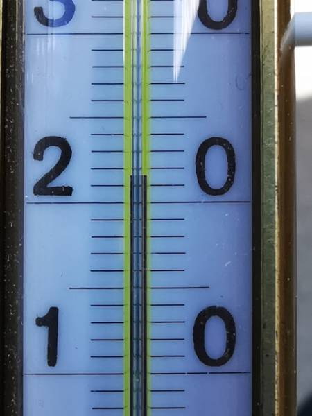 Gärtnereithermometer- Teilung