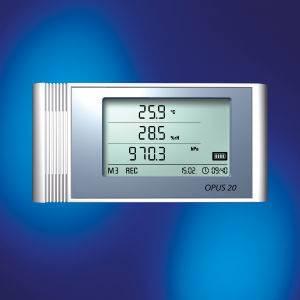 LAN-Datenlogger OPUS20 THIP mit Lufttemperatur, Luftfeuchte und Luftdrucksensor