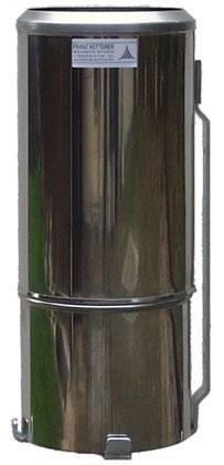 Regenmesser nach Hellmann, 200 cm² Auffangfläche, rostfreies Blech